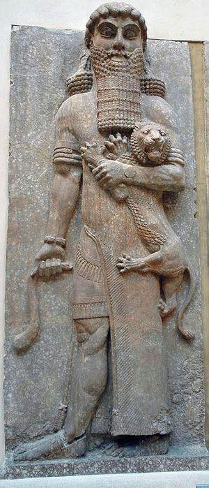 Imagem do herói Gilgamesh. (Foto de J. Johanis de pinterest.com)
